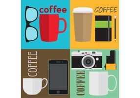 Vettori di caffè hipster