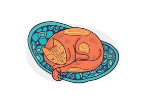 Vector Sleeping Cat