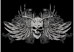 Disegno vettoriale di t-shirt cranio