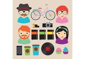 Elementi di vettore di hipster