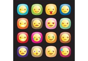 Emoticon icone vettoriali