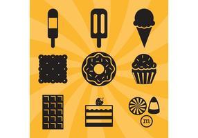 Icone vettoriali di caramelle