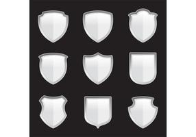 Scudi araldici d'argento di vettore