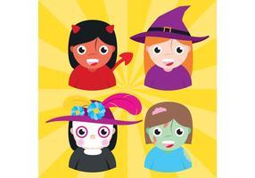 Personaggi vettoriali di Halloween