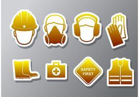 Salute e sicurezza icone vettoriali