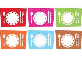 Vettore stagionale della regolazione del tavolo da pranzo