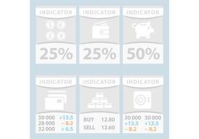 Bandiere dell'indicatore finanziario di vettore