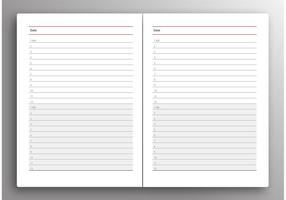 Daily Planner Vector