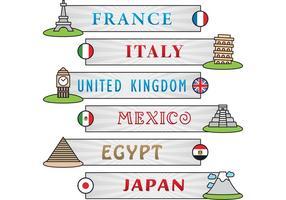 Bandiere di vettore del monumento
