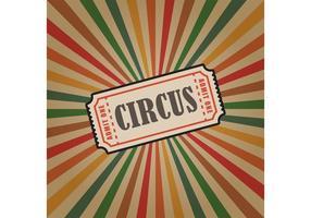 Fondo del biglietto di vettore del circo dell'annata