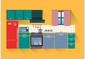 Vettore di cucina moderna