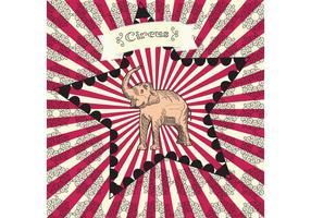 Manifesto di vettore del circo dell'annata