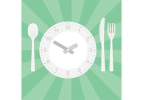 Regolazione della tavola da pranzo di vettore dell'orologio