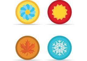 Icone vettoriali di stagione