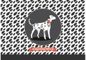 Carta da parati di vettore del cucciolo dalmata di isolato