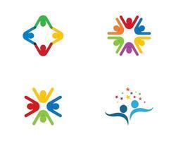 modello di logo colorato comunità