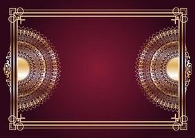 elegante sfondo di disegno mandala d'oro