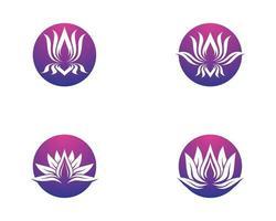 set circolare simbolo di loto vettore