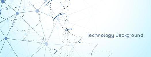 banner di tecnologia moderna su sfondo azzurro vettore