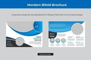 disegno del modello aziendale ciano colore bi-fold vettore