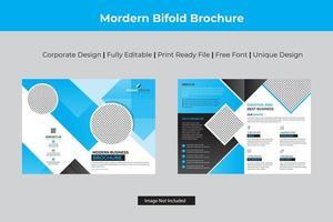 modello bi-fold di ciano angolo design business vettore