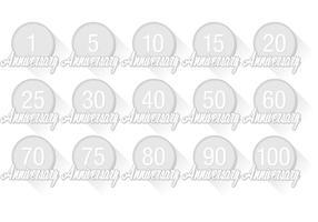 Vettori di badge anniversario