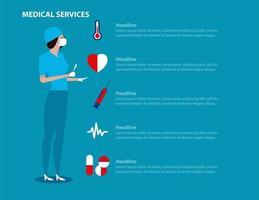 landing page dei servizi medici con il chirurgo