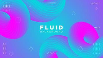 fluido colorato sfondo curvo
