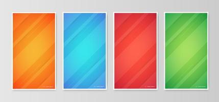disegni geometrici astratti di copertura gradiente
