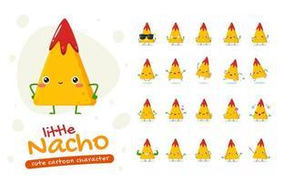 set di caratteri mascotte nacho