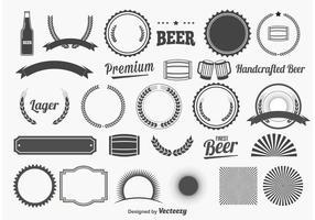 Elementi di design di birra vettore