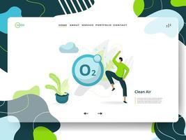 pagina di destinazione aria pulita vettore
