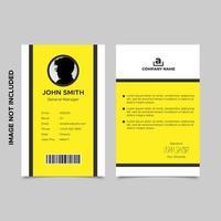 modello di carta di aiuto dipendente minimalista vettore