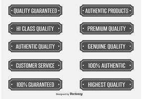 Etichette vettoriali di qualità
