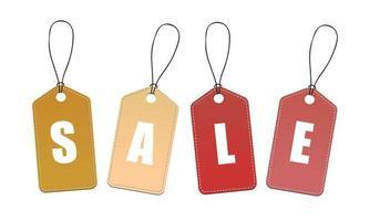 """tag """"vendita"""" multicolore"""