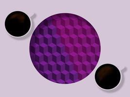 due tazze di caffè su entrambi i lati del cerchio
