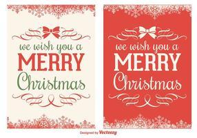 Insieme di vettore della cartolina di Natale