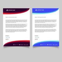 modello di carta intestata aziendale di design minimale vettore