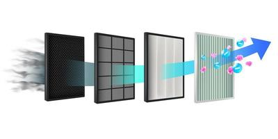 tecnologia del filtro dell'aria vettore