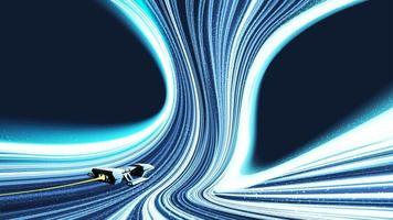 viaggio nel tempo tra i buchi neri vettore