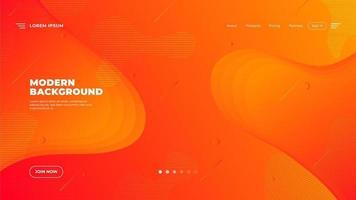 pagina di destinazione arancione moderna astratta vettore