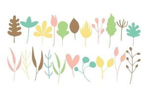 insieme di foglie colorate