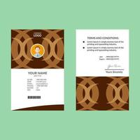 design di carta d'identità retrò pulito marrone e bianco vettore