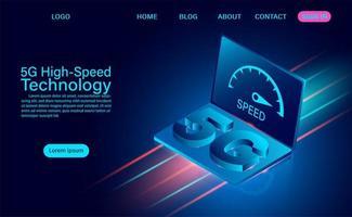 Tecnologia 5g ad alta velocità