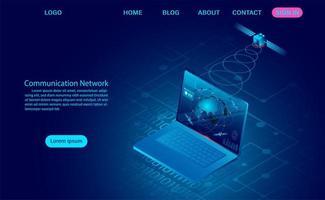 concetto di rete di comunicazione vettore