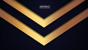 sfondo triangolo astratto blu e oro vettore