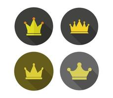 corona impostata su sfondo bianco