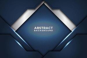 sfondo blu e bianco di sovrapposizione geometrica vettore