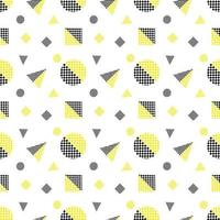modello geometrico senza cuciture nero e giallo vettore
