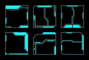 elementi dell'interfaccia hud quadrati geometrici vettore